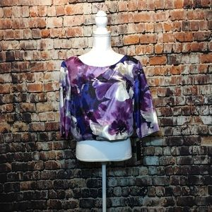 NEW 🎀 Sangria Woman's XL Crop Top Shirt